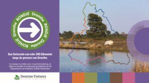 Voorkant routeboekje Rondje Drenthe